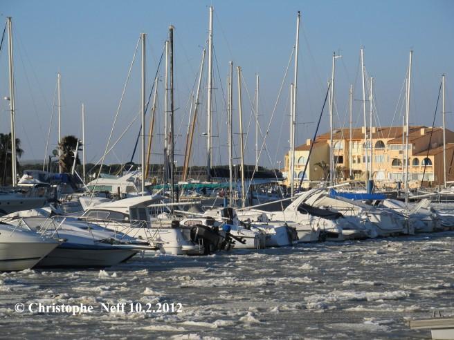 La banquise au Port de Port Leucate 1 10.2.2012