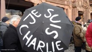 parapluie je suis charlie - Mannheim - Rosengarten 11.01.2015