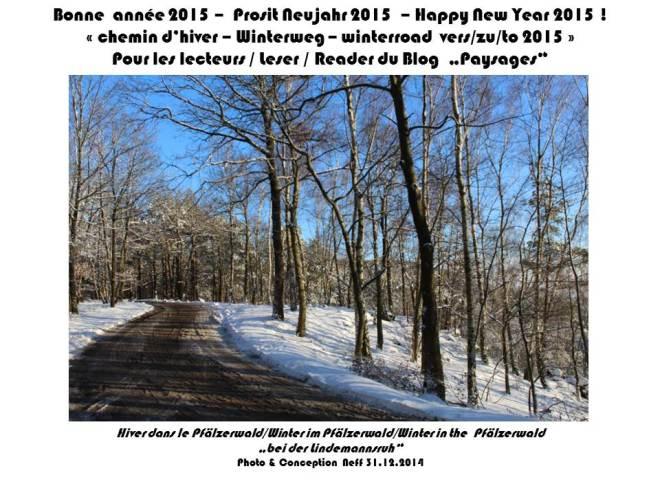 Neujahrspostkarte 2015 blog paysages