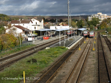 Novemberhimmel und 3X 628 in Grünstadt 02.11.2012
