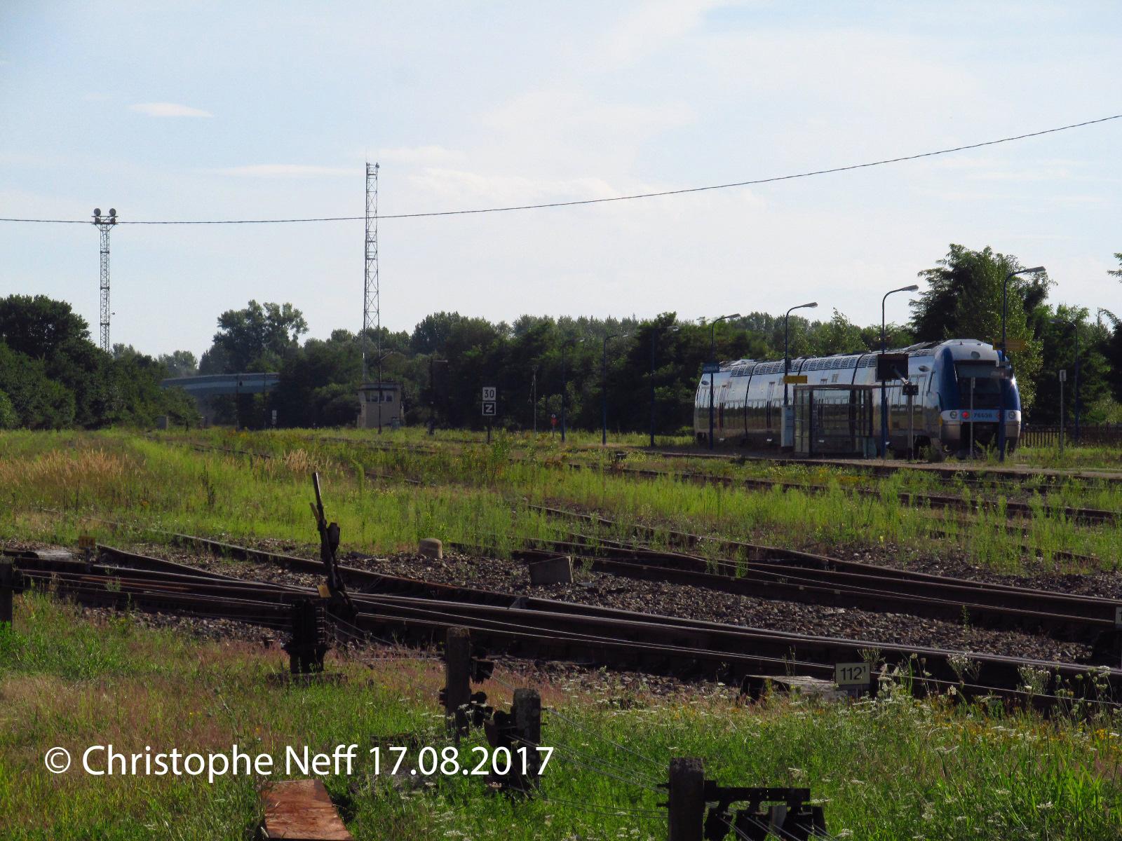Gleisanlagen Bahnhof Lauterbourg 17.8.2017,  17H 44B1