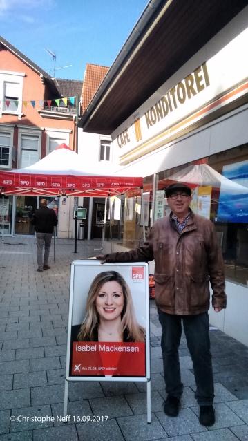 Wahlkampf für Isabel Mackensen am 16.09.2017