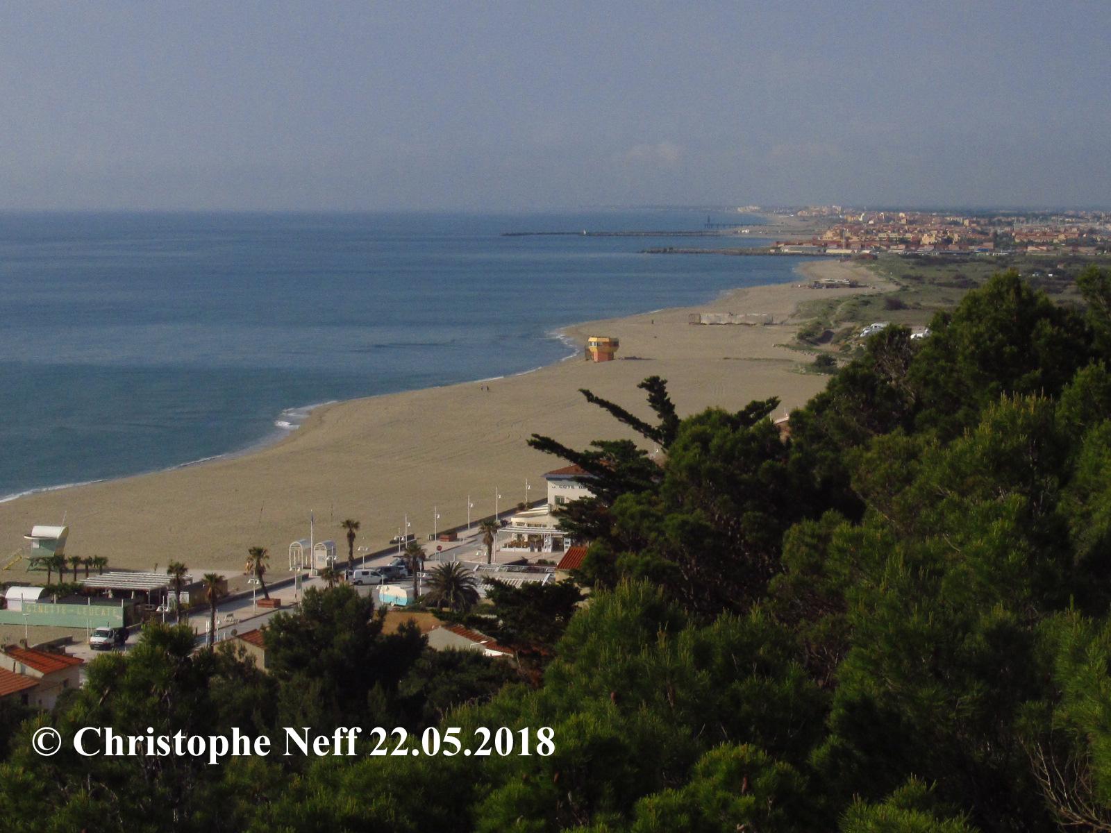 Vue sur Leucate plage et Lido de Leucate (22.05.2018)
