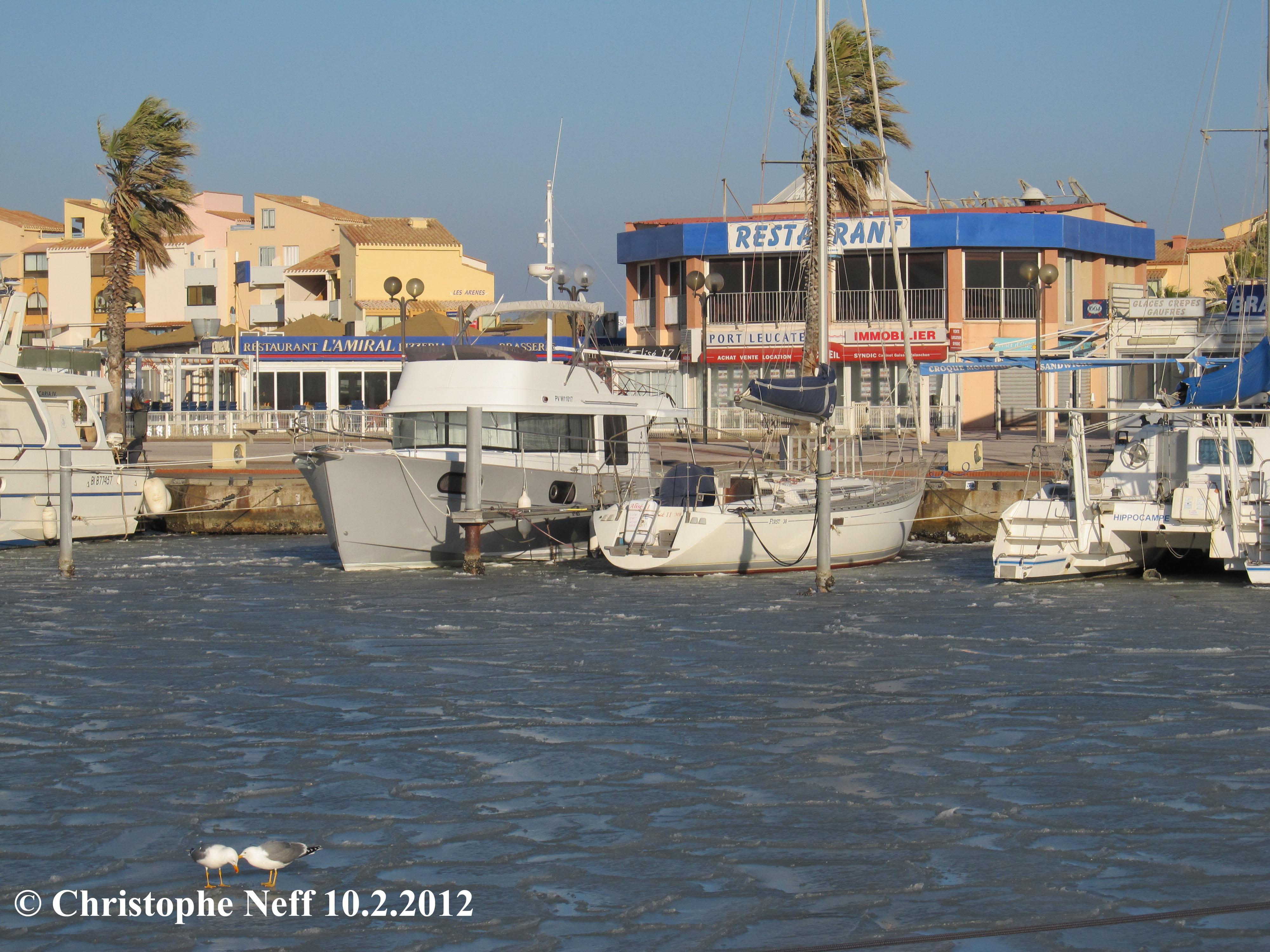 La banquise au Port de Port Leucate 2 10.2.2012