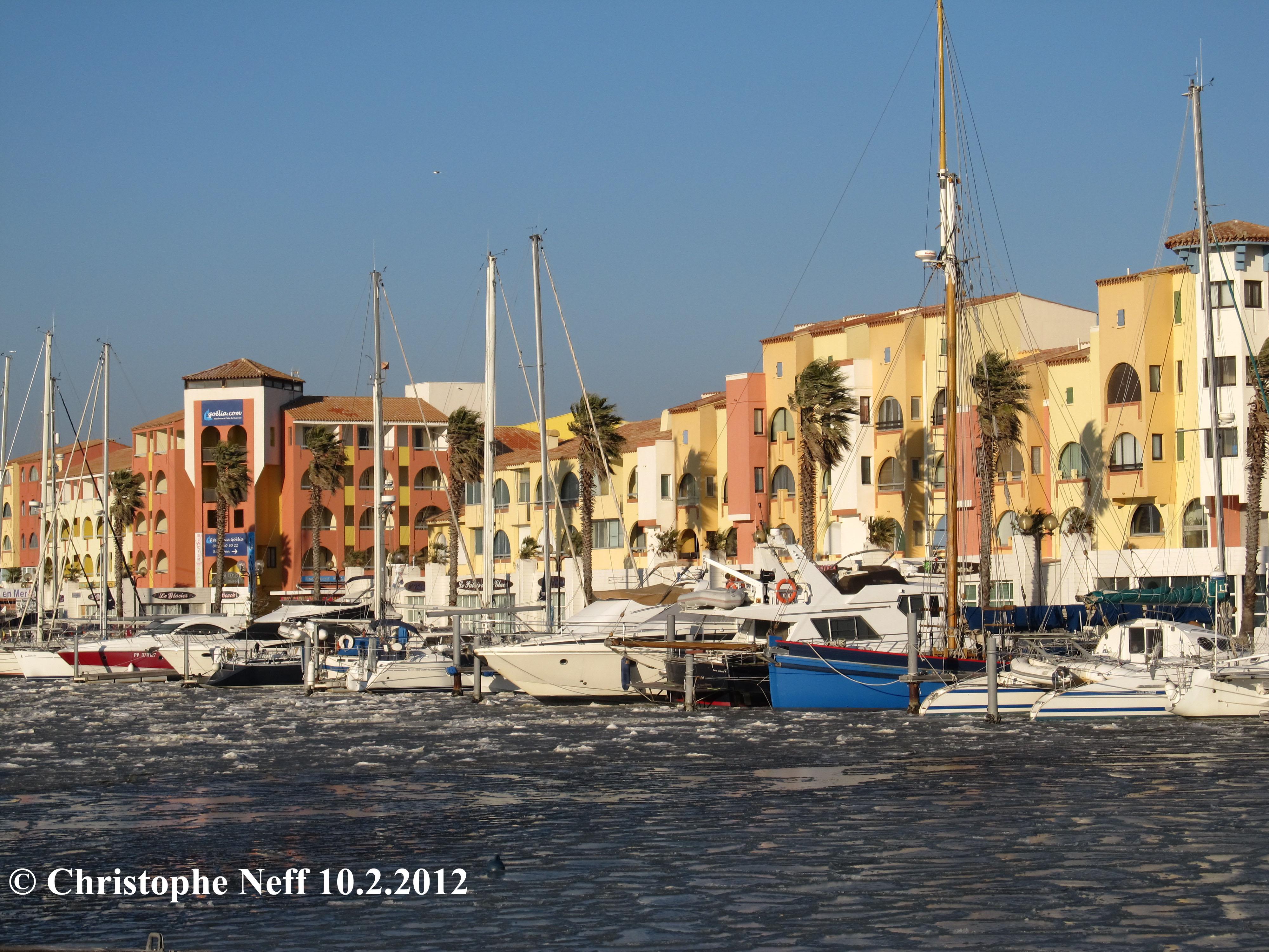 La banquise au Port de Port Leucate 3 10.2.2012