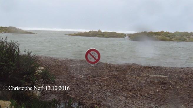 La plage de Port Leucate 13.10.2016, vers 15.27
