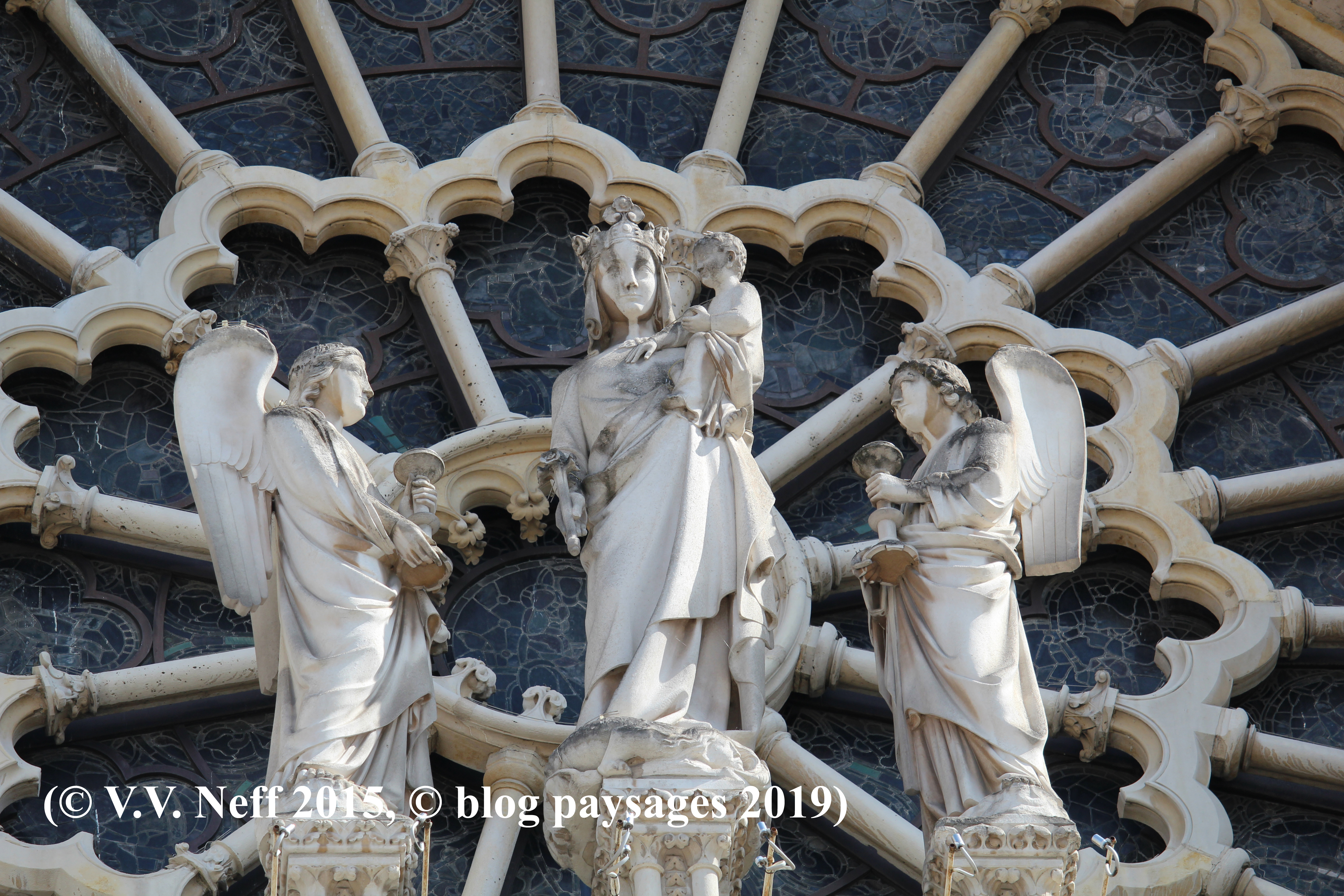 Detail Notre-Dame -de-Paris (Westportal)