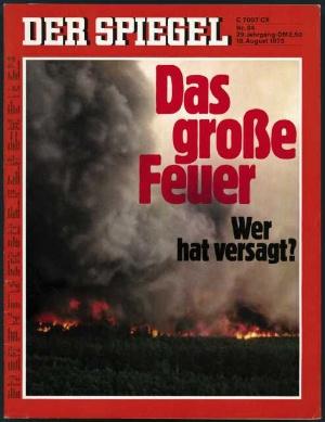 Spiegel 1975 Das große Feuer - wer hat versagt!