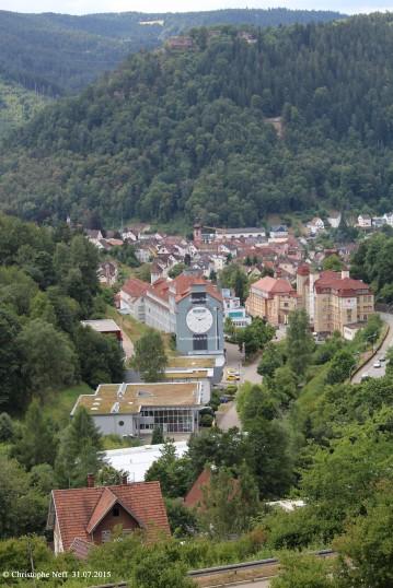Vue sur la Talstadt Schramberg - 31.07.2015