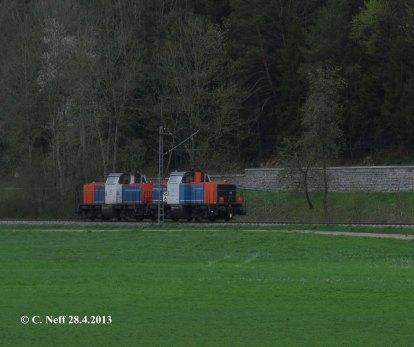 214 der NBE-Rail auf der Gäubahn im Neckartal 2