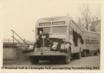 Schramm Möbelwagen in Saulgau (1950 Jahre)