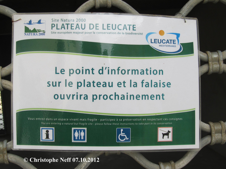 le point d'information sur le plateau et la falaise ouvrira proc