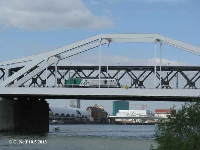 SNCF BB37023 auf der Konrad Adenauer Brücke