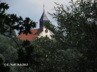 Vue sur l'Église de Munchhausen 28.06.2013